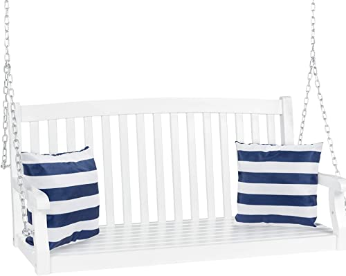 Best Choice Products 48in 3-Seater Hanging Porch Swing - Best Garden Swings for Adults