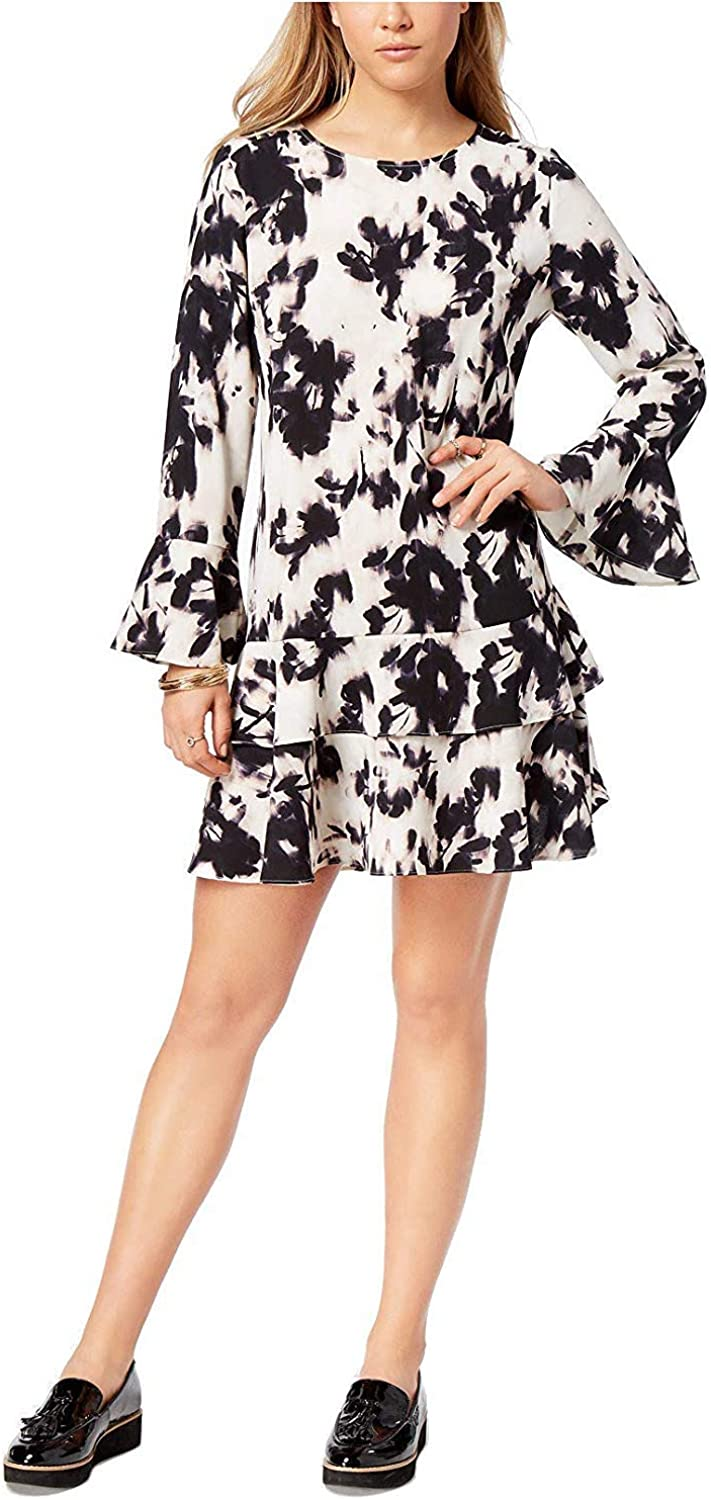 Bar Iii Womens Printed Tiered Dress