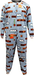 c30420990bd Nintendo Men s Super Mario Cloud World One Piece Pajama Light Blue