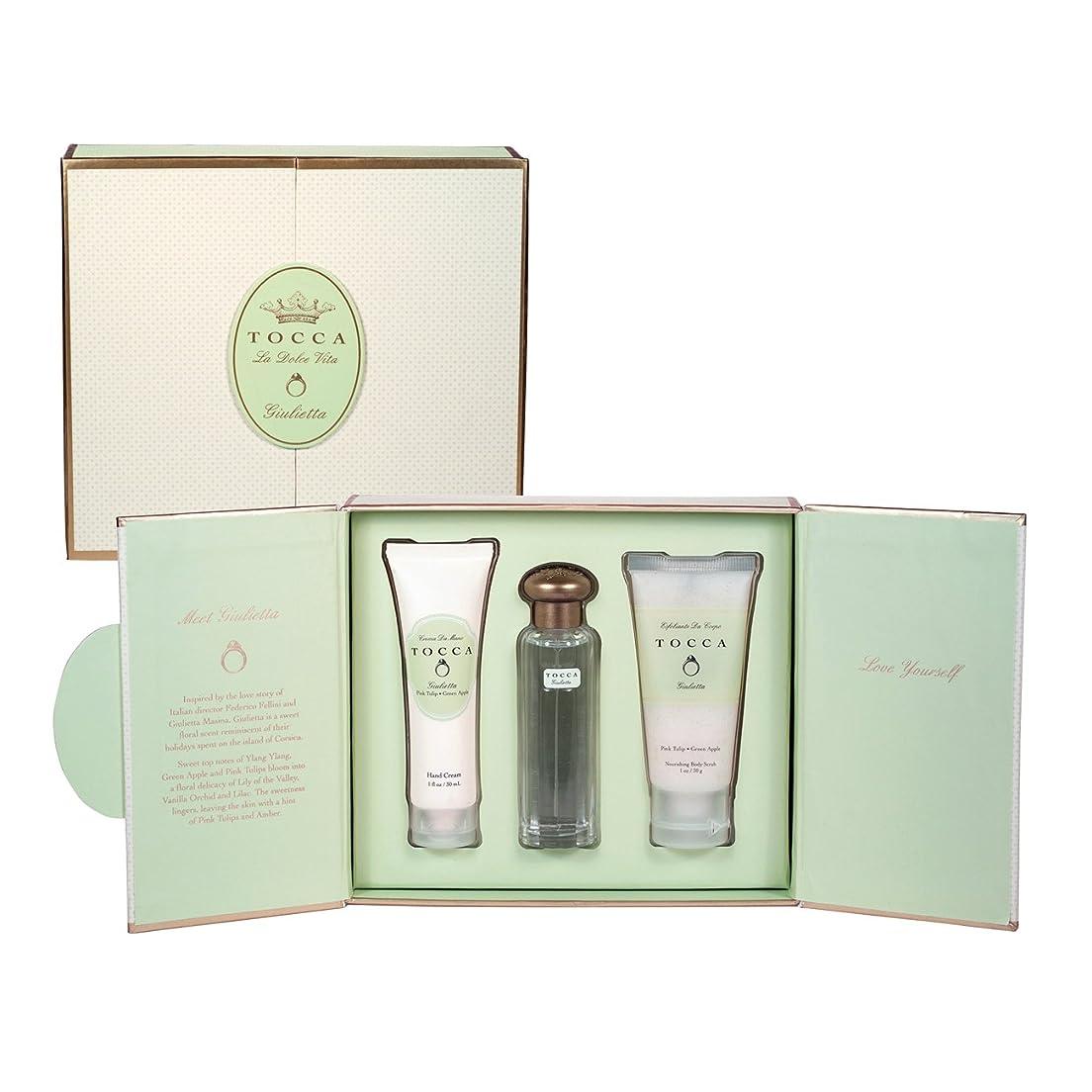一族パニック名詞トッカ(TOCCA) ドルチェヴィータコレクション ジュリエッタの香り (香水20ml、ハンドクリーム30ml、ボディーケアスクラブ30ml)
