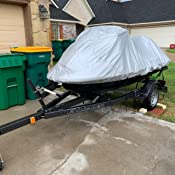 Trailerable Sun Includes Trailer Straps and Storage Bag and More UV Rays All Weather Weatherproof Jet Ski Covers for STX 160 STX 160 X LX Multiple Color Options Protects from Rain