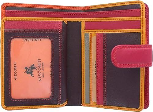Visconti portafoglio porta carte di credito con protezione anticlonazione per donna in pelle RB51_ac3