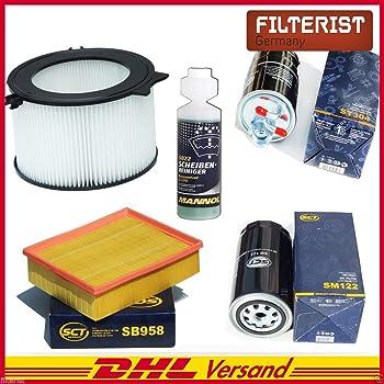 Inspektionspaket Wartungspaket Filterset 1 x /Ölfilter 1 x Innenraumfilter 1 x Kraftsofffilter 1 x Luftfilter