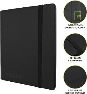 Vault X Premium eXo-Tec Strap Binder - 9 Pocket Trading Card Album Folder - 360 Side Loading Pocket Binder for TCG (Strap)