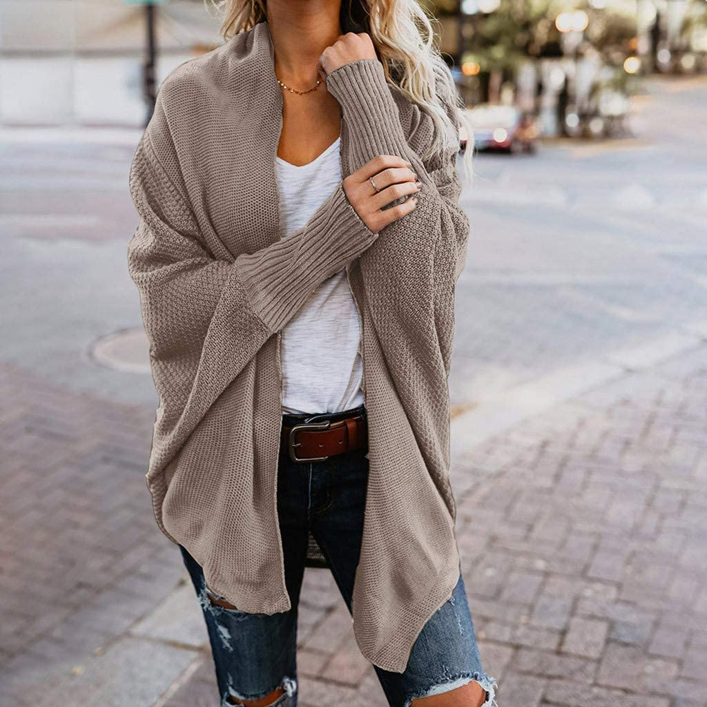 Gergeos Women Sweater Loose Casual Cardigan Autumn and Winter Coat Pullover for Ladies Girls