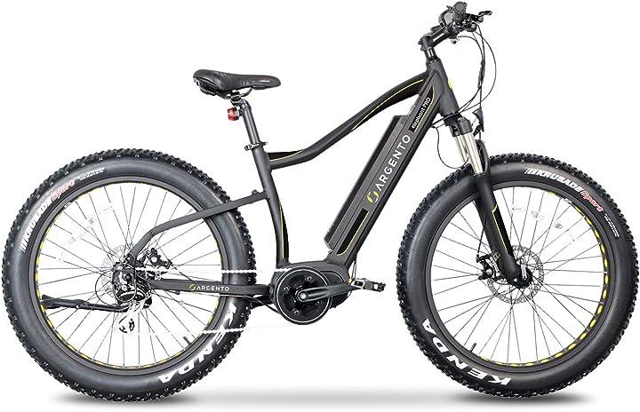 Bicicletta elettrica elephant pro fat mountainbike, ruote unisex argento AB-EP-Y20