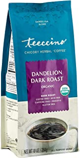Teeccino Coffee Alternative – Dandelion Dark Roast – Detox Deliciously with Dandelion Herbal Coffee That's Prebiotic, Caff...