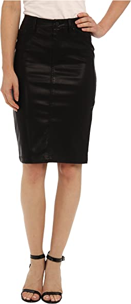 Faithful Pencil Vegan Leather Skirt in Pussy Cat