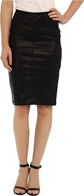 be71b8e59a Faithful Pencil Vegan Leather Skirt in Pussy Cat