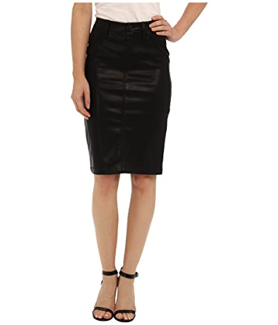 Blank NYC Faithful Pencil Vegan Leather Skirt in Pussy Cat (Pussy Cat Black) Women