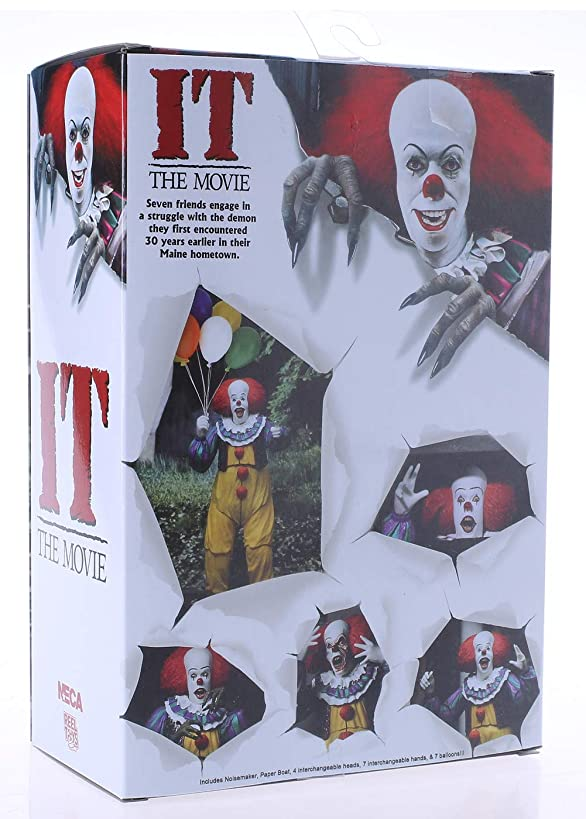 BODAN NECA Action Figure IT Action Figure Statues Model Toy Collectible Gift Sealed Original Stephen King's IT 1990 Ultimate Pennywise PVC 7inch Scale