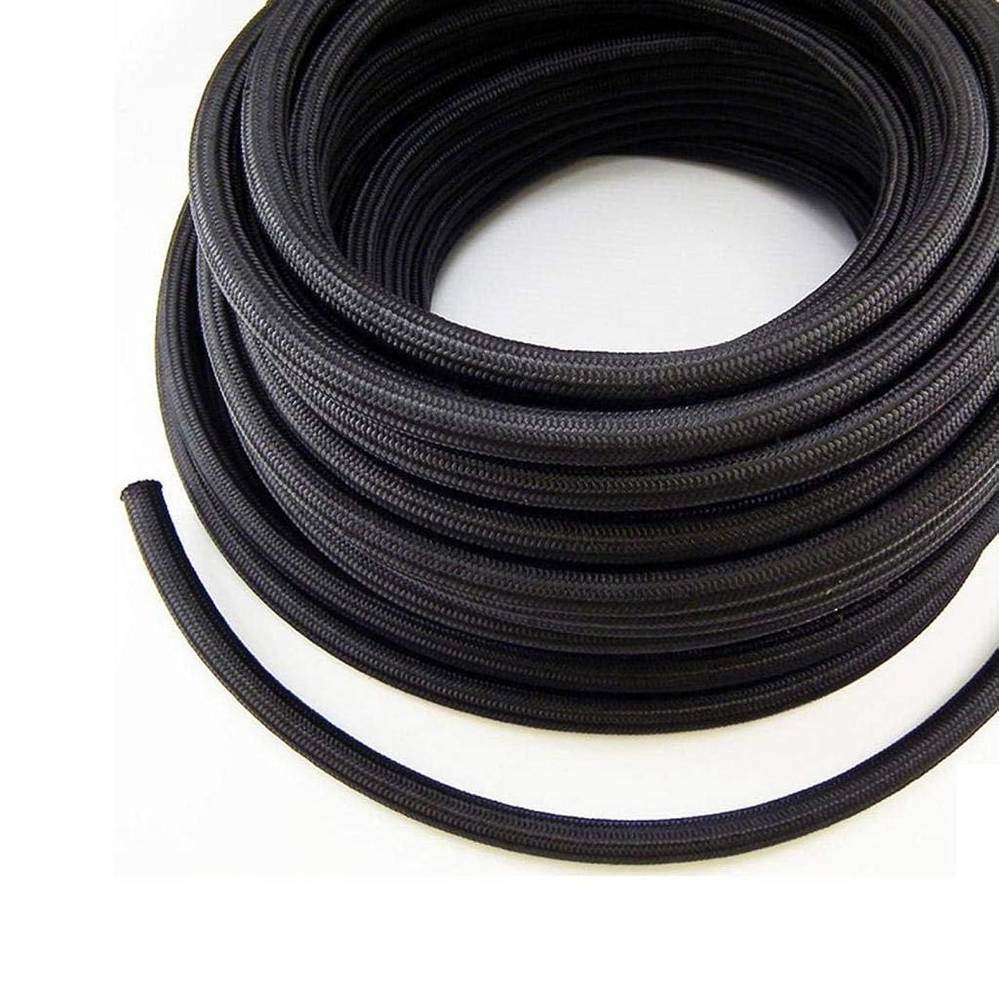 Nylon Braidied Oil Fuel Gas Line Hose 10FEET (Black, AN-10)