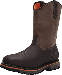 Timberland PRO Men's Pull-On Work Boots Industrial, Brown Turkish Coffee Distressed