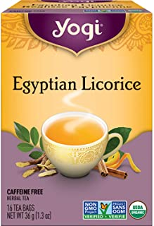 Organic Egyptian Licorice 16 tea bags by Yogi Tea
