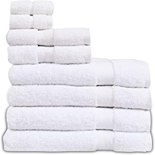 Eden Textile Hotel Bath Towel Set for AirBnB, Inns and Spas, Soft and Durable, 100% Cotton in White Opulence Set of 4 Bath...