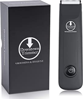 Downtown Trimmer, Electric Groin Hair Trimmer & Body Trimmer for Men, Replaceable Ceramic Blade Heads, Rechargeable, 100% Waterproof, Elite Male Hygiene Machine