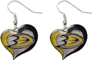 NHL Anaheim Ducks Swirl Heart Earrings