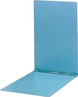 "Smead PressGuard Report Cover, Metal Prong Top Fastener with Compressor, 3"" Capacity, Sheet Size 11"" x 17"", Blue, 10 per Box (81078)"