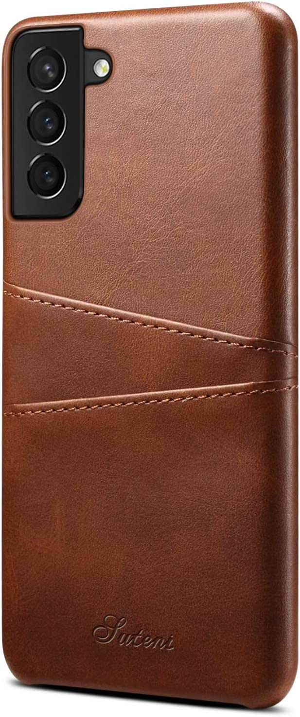 XRPow Wallet Case for Galaxy S21+ Plus 5G with Credit Card Holder, Slim PU Leather Wallet Card Pocket Back Cover Shockproof Protective Case for Galaxy S21 Plus 6.7inch - Brown