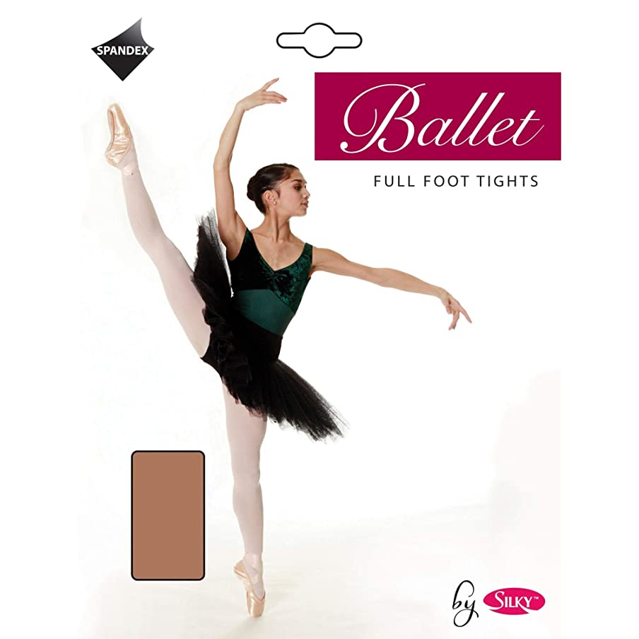 Silky Big Girls Dance Ballet Tights Full Foot (1 Pair) (7-9 Years) (Tan)