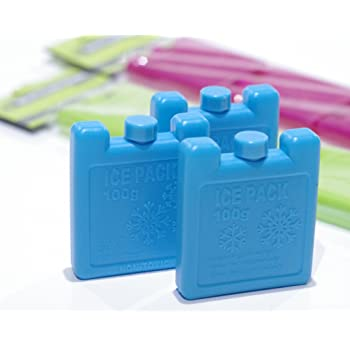 Mini Cool bag ice packs x3 blocks Ideal for cold lunch boxes