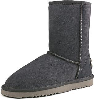 Shenduo Scarpe Donna Invernali - Stivali da Neve Classico a Mezza Gamba Caldo Pelle Scamosciata DA5825