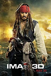 PIRATES OF THE CARIBBEAN ON STRANGER TIDES MOVIE POSTER 2 Sided ORIGINAL IMAX 27x40