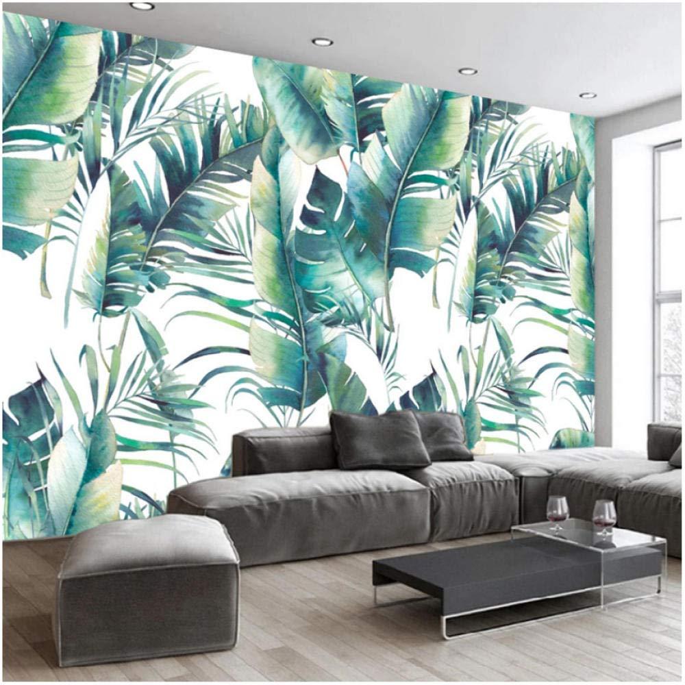 Amazon 壁飾り画 壁画壁紙レトロ3dバナナ葉壁画リビングルームテレビソファベッドルーム家の装飾モダンなシンプルなアート壁紙 280x0cm ウォールステッカー オンライン通販