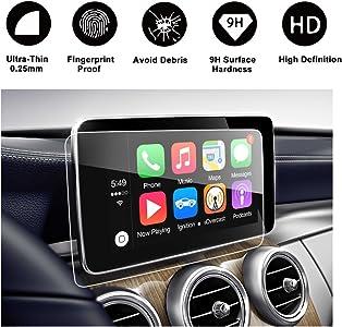 RUIYA Proteggi schermo vetro temperato per 2014-2017 Mercedes AMG C-Klasse W205 Comand Online NTG Sistema navigazione Pellicola protettiva HD 8 4 pollice