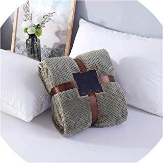 retro store Flannel Fleece Throw Blanket Super Soft Warm Sofa/Bed Bedding Sheet Pineapple Plaid Bedspread Blankets 200230cm,Army Green,150x200cm
