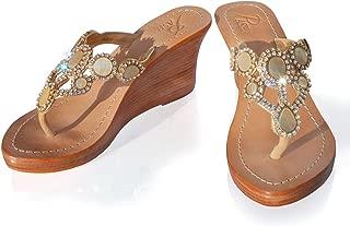 Gorgeous Jeweled Genuine Leather Shoes Pasha, Style Sorrento