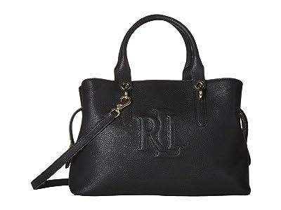 LAUREN Ralph Lauren Hayward 34 Medium Satchel (Black) Handbags