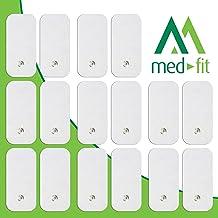 MED-FIT 5x10cm Flexi STIM 16 x 3.5mm Stud (tipo snap/boton) TENS Almohadillas autoadhesivas encajan con BEURER, SANITAS y VIRTUALMENTE todas las Maquinas de masaje TENS en Amazon.