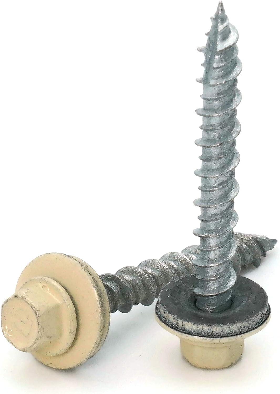 送料無料 激安 お買い得 キ゛フト Hex Washer Head Hi-Lo Thread Screw セール Mechanical Roofing Galvanized