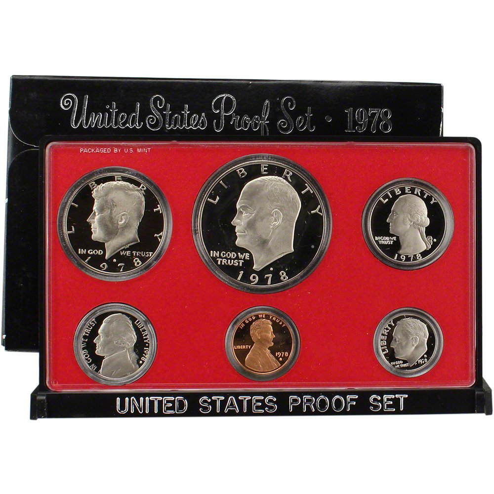 Ranking Inventory cleanup selling sale integrated 1st place 1978 S US Mint Proof Set Packaging Government Original