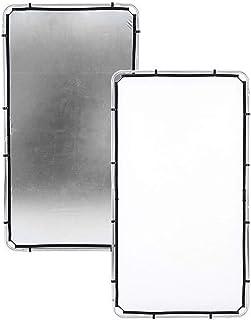 Lastolite von Manfrotto, Reflektor von Skylite Rapid, Medium, mit Stoff, 1,1 x 2m, Silberfarben/Weiß, LL LR81231R