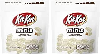 Hershey s Kit Kat Mini s White Chocolate Covered Wafer Candies 8oz Bag Pack of 2
