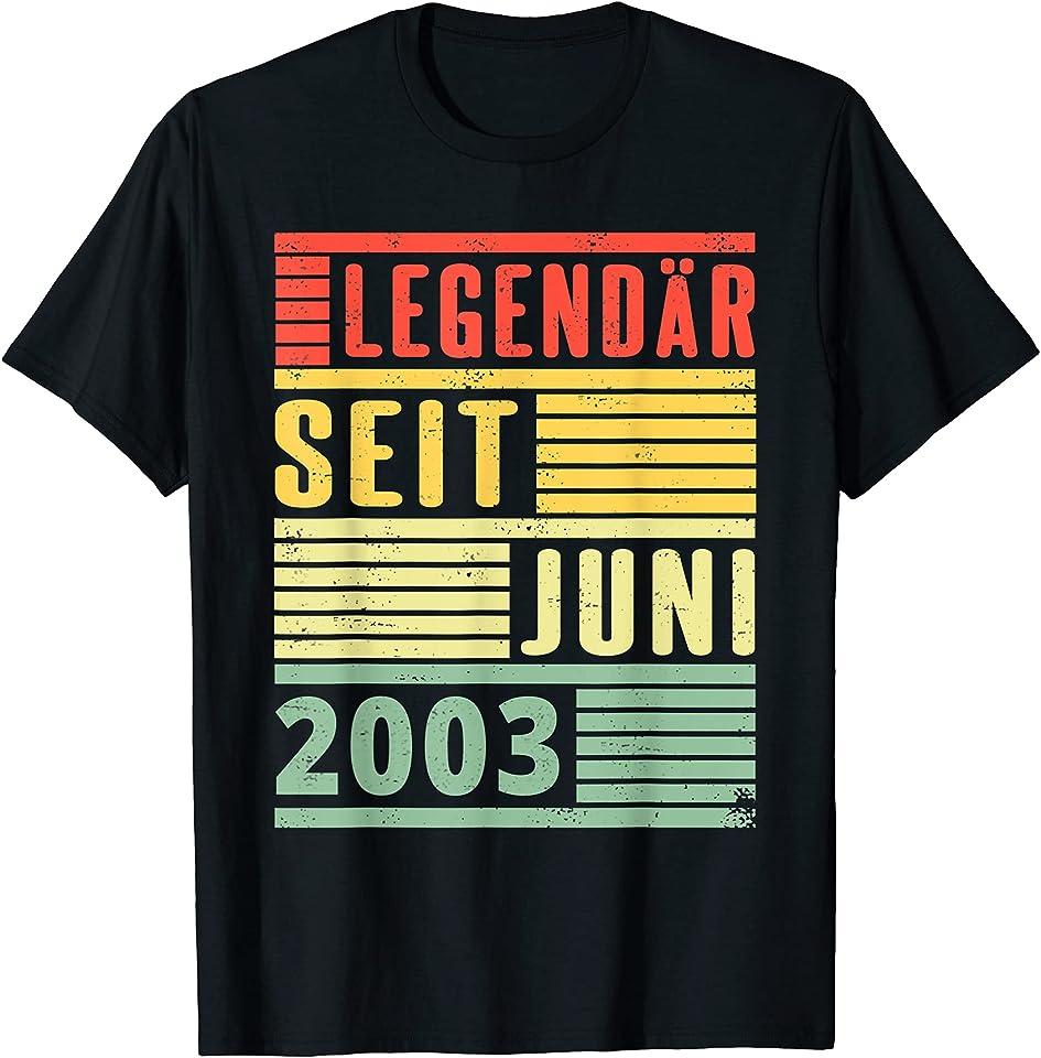 Legendär Seit Juni 2003 18. Geburtstag T-Shirt