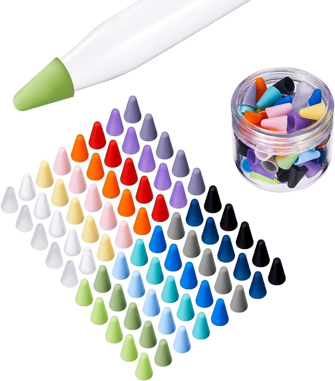Puntas de silicona para Apple Pencil, 16 colores (Pack 80)