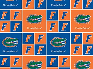 Cotton College University of Florida Gators Print Cotton Fabric By the Yard
