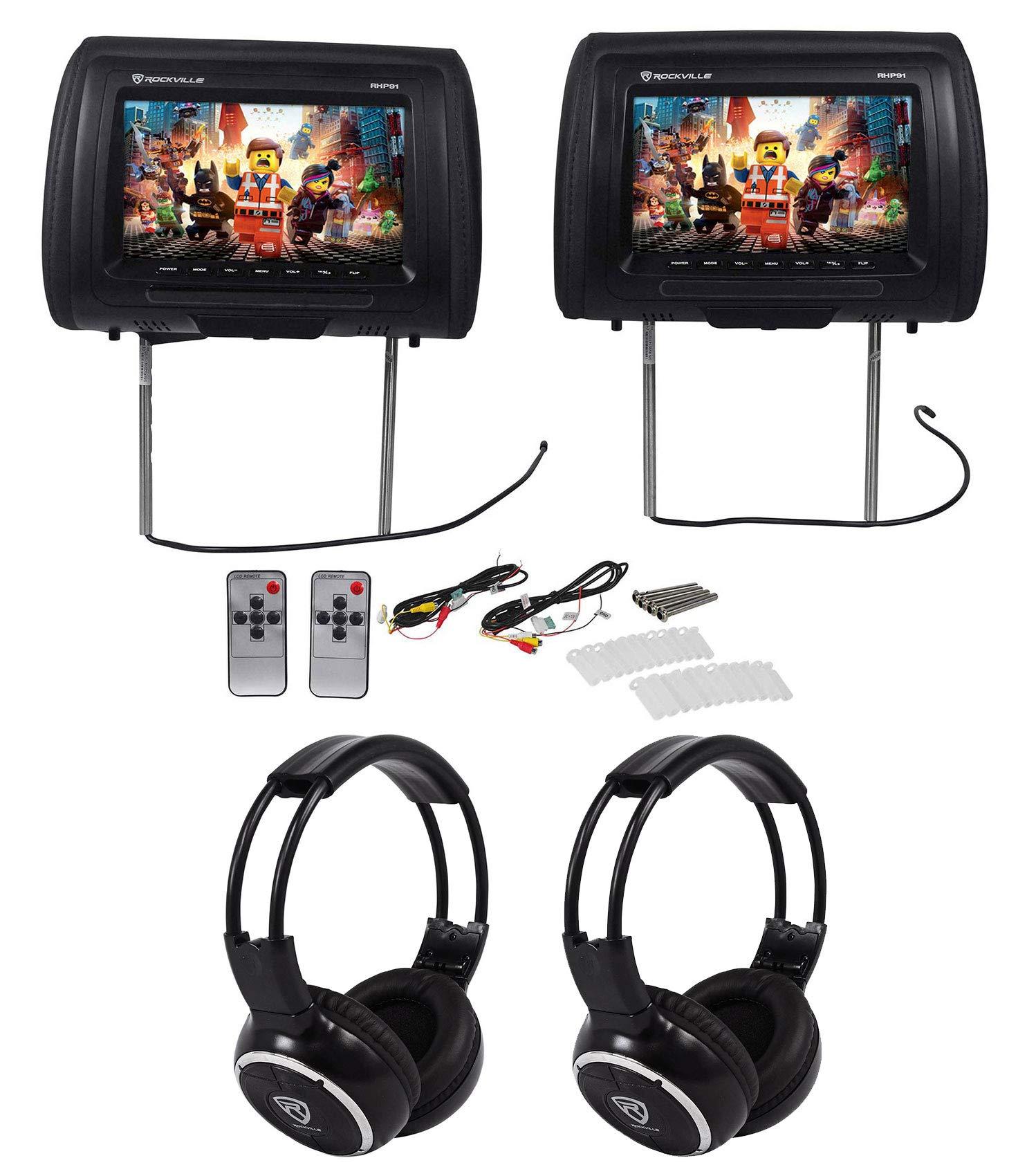 Rockville RHP91 BK v2 Headrest Headphones