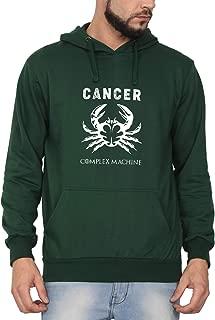 Swag Swami Unisex Cotton Cancer Complex Machine Zodiac Printed Hoodie | Hooded Sweatshirt