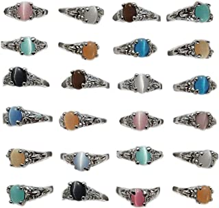 AIHIQI New Wholesale Lots Mixed Colorful Finger Ring Jewelry