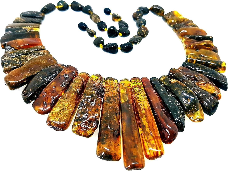 Natural Baltic Amber Necklace Collar / Women / Healing Amber Necklace / Certified Genuine Baltic Amber