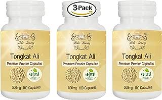 Tongkat Ali 500mg Premium Powder 3 Bottle 300 Capsules Natural Herbal Capsules Grown in Thailand