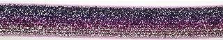 Trimweaver 5/8-Inch Glitter Fold Over Elastic for Craft, 5-Yard, Ombre Purple