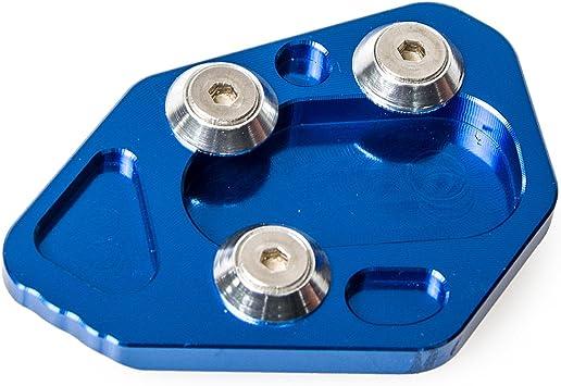 H2racing Blau Motorrad Seitenständer Unterstützung Fuß Verbreiterung Ständer Pad Für F800r 2009 2014 R1200s 2006 2008 Hp2 Sport 2008 2010 Auto