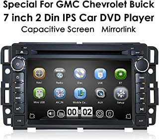 hizpo Double Din Car Navigation Stereo with Bluetooth Fit for GMC Chevrolet Buick Yukon Acadia Savana Built-in7 Inch Capacitive Touch Screen Car Entertainment Multimedia Radio WiFi GPS