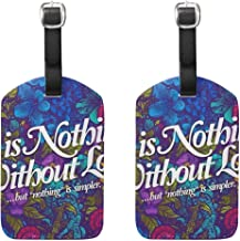 EnmindonglJHO Luggage Tags Love Is Nothing Without Womens Bag Suitcase Tags Holder traveling accessories Set Of 2