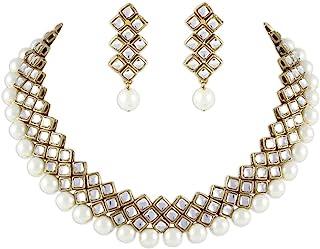 8663e860a0 Shining Diva Latest Kundan Choker Traditional Necklace Jewellery Set for  Women